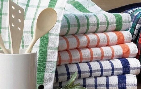 Как отстирать полотенца кухонные от пятен и запаха в домашних условиях