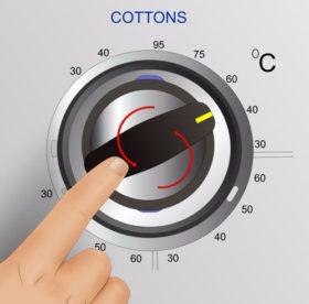 Стираем хлопковую ткань: правильная температура воды для стирки