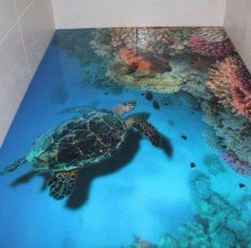 Наливной пол в ванной комнате – особенности, достоинства, технология