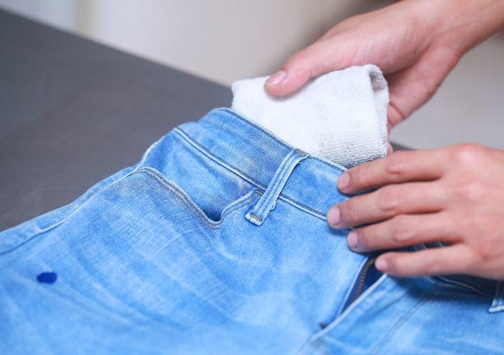 Стирка джинс от грязи