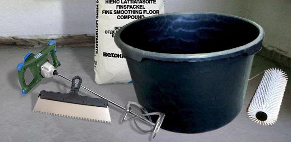 Инструменты для создания наливного пола