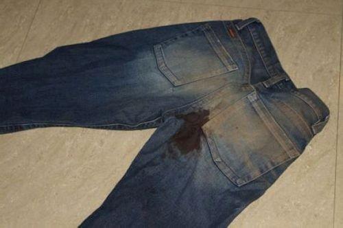 Как отстирать джинсы от машинного масла