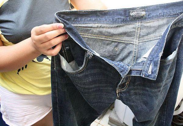 Усадка джинсов