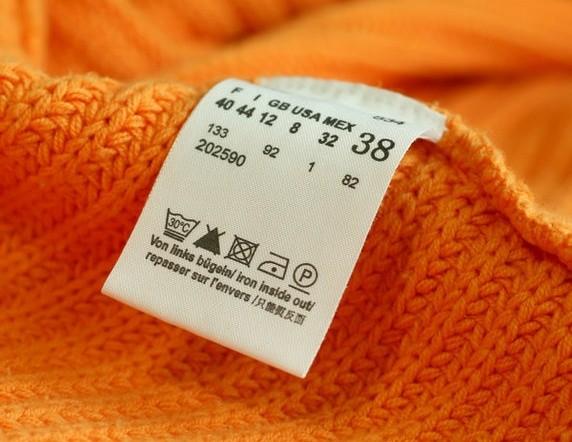 Изучите этикетку на одежде