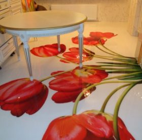 Наливной пол на кухне своими руками – достоинства и тонкости технологии