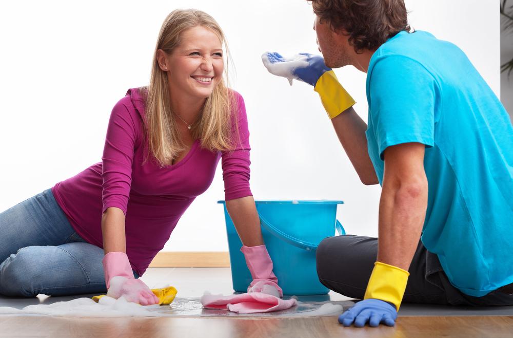 Совместная уборка в доме