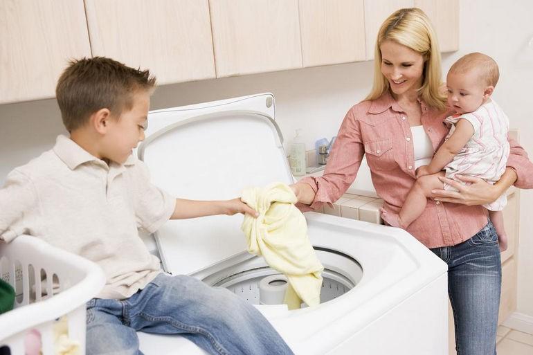 Правильно стираем белье крохи