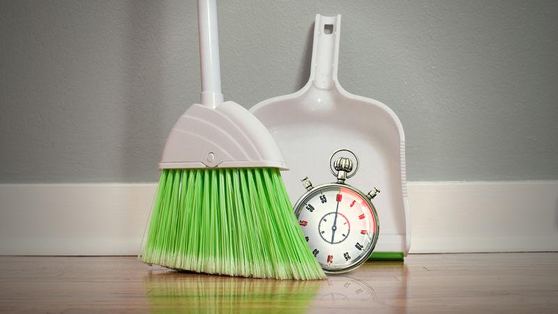 Быстрая уборка дома