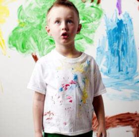 Как быстро и качественно отстирать рубашку от краски