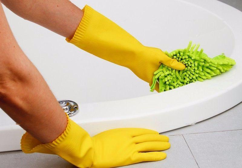 Как очистить акриловую ванну от желтых пятен